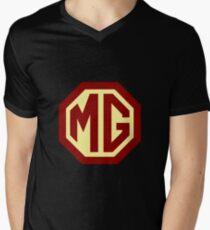 Oldtimer Logo - MG T-Shirt mit V-Ausschnitt