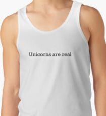 Unicorns sind real Tanktop für Männer