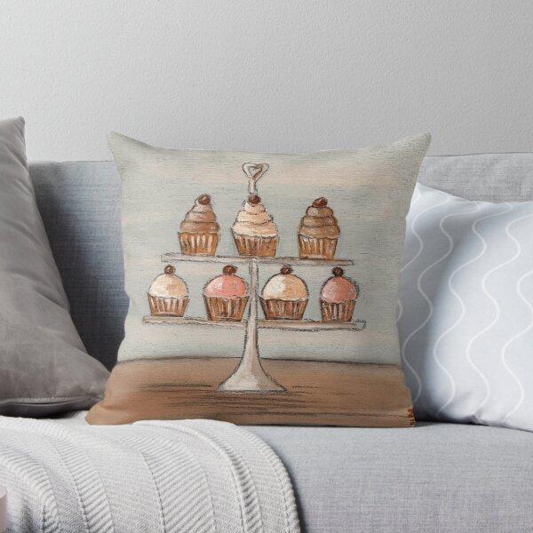 Cupcake Fancies Throw Pillow