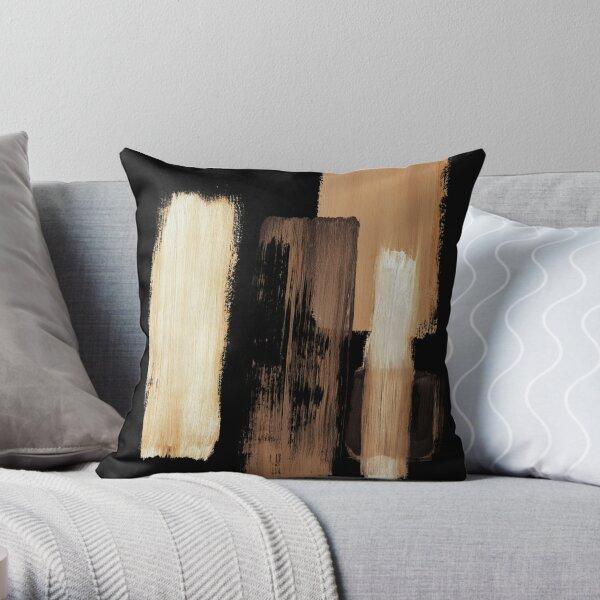 Black brown Throw Pillow