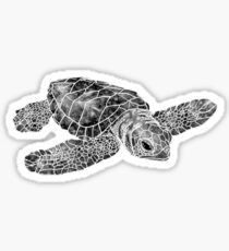 Sea Turtle Watercolor Art Sticker