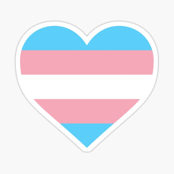 TRANS PRIDE FLAG - HEART SHAPE Sticker