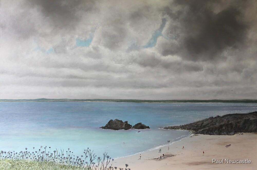 Clouds Over Porthgwidden Beach by Paul Newcastle