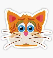 Cat Face Cartoon Vector Graphic Sticker