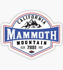 MAMMOTH MOUNTAIN CALIFORNIA SKIING SKI SNOWBOARDING HIKING CLIMBING Sticker
