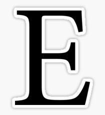 black e // epsilon Sticker