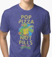 Pop Pizza Not Pills Tri-blend T-Shirt