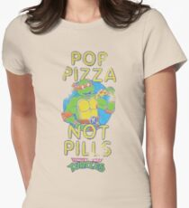 Pop Pizza Not Pills Women's Fitted T-Shirt