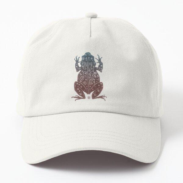 Zen the Toad Woodcut  Dad Hat