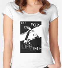 Adventure of a Lifetime Typography Women's Fitted Scoop T-Shirt