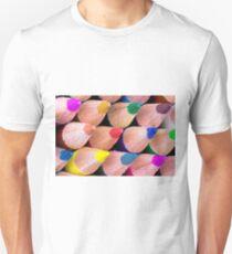 Close up macro shot of colouring pencils T-Shirt