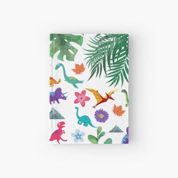 Colorful, cute dinosaur prints  Hardcover Journal