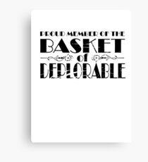 member of deplorable Canvas Print