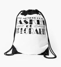 member of deplorable Drawstring Bag