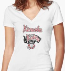 Kenosha Kickers Women's Fitted V-Neck T-Shirt
