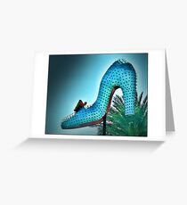 Blue High Heel Greeting Card