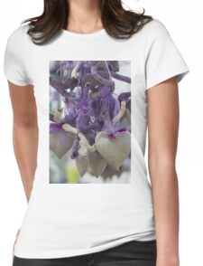 lavender hearts Womens Fitted T-Shirt