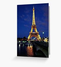 Minions visit the Eiffel Tower Greeting Card