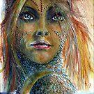 Patinated mermaid by frithjof
