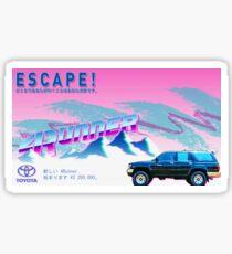 Vaporwave 4Runner Advertisement Sticker