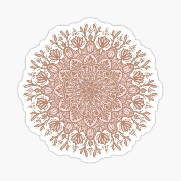 Rose Gold Beige Mandala Sticker