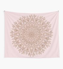 Rose Gold Beige Mandala Wall Tapestry