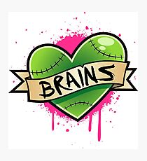 I Heart Brains Photographic Print