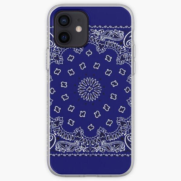 Navy Blue Hanky, Taschentuch iPhone Flexible Hülle