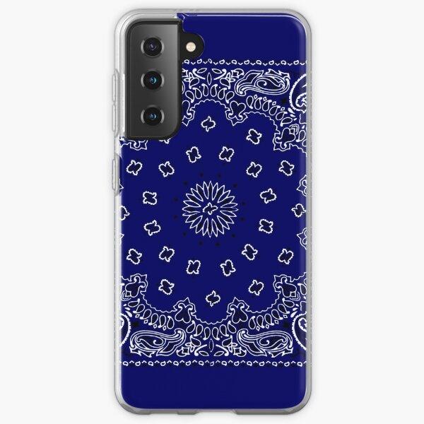 Navy Blue Hanky,Handkerchief Samsung Galaxy Soft Case