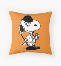 Snoopy DeLarge (A Clockwork Beagle) Throw Pillow