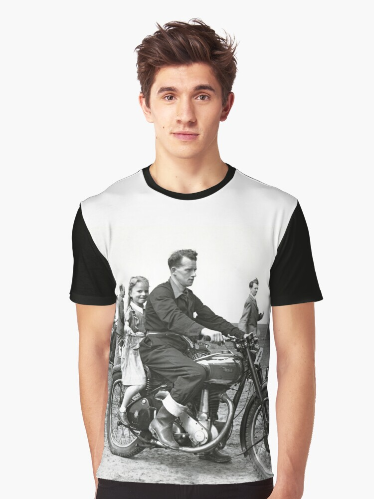 Girl on a bike Graphic T-Shirt Front