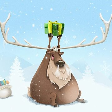 Fat Reindeer by andrapopovici