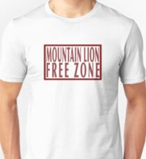 Mountain lion free zone Unisex T-Shirt