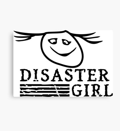 Disaster Girl VRS2 Canvas Print