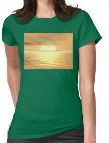 Big Sunset Womens Fitted T-Shirt
