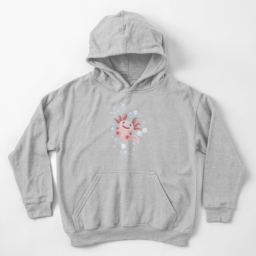 Axolotl and The Bubbles Kids Pullover Hoodie