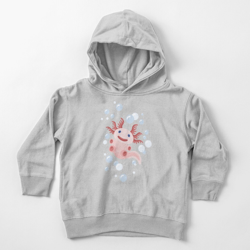 Axolotl and The Bubbles Toddler Pullover Hoodie
