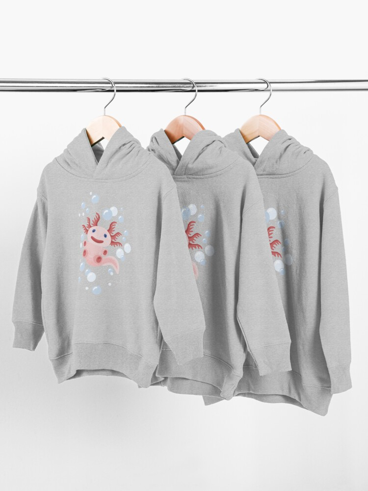 Alternate view of Axolotl and The Bubbles Toddler Pullover Hoodie