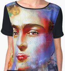 Frida Kahlo Painted Women's Chiffon Top