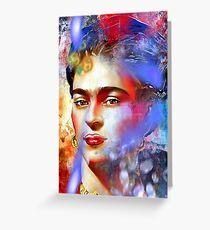 Frida Kahlo Painted Greeting Card