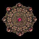 Brown Gemstones Mandala by WelshPixie