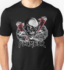 """Plumber Skull: """"The Plumber"""" Unisex T-Shirt"""
