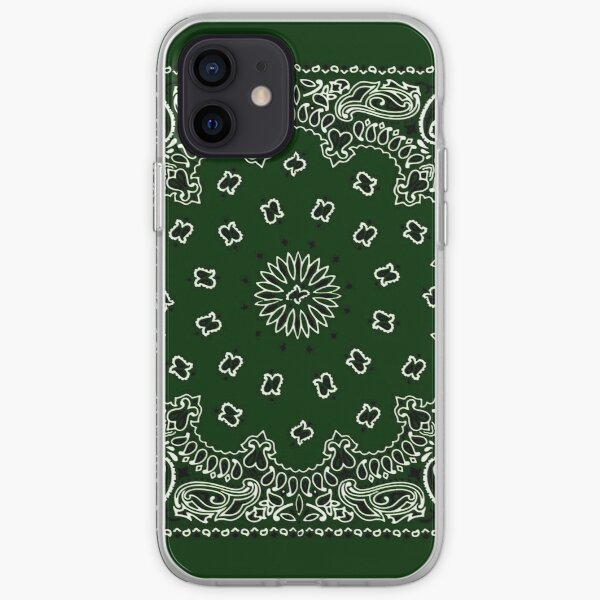 Hunter Green Hanky,Handkerchief iPhone Soft Case
