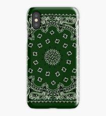 Hunter Green Hanky,Handkerchief iPhone Case