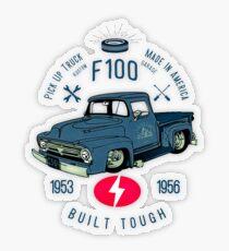 Ford F100 Truck Built Tough Transparenter Sticker