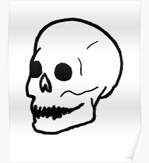 Patch Skull Poster