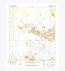 USGS TOPO Map Arizona AZ Childs Valley 314467 1965 62500 Photographic Print