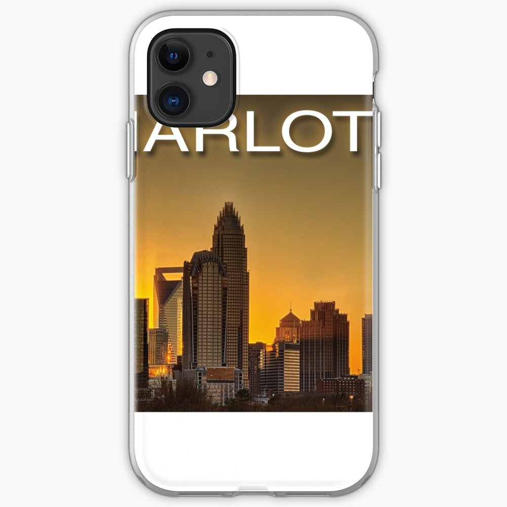 charlotte nc skyline iPhone Soft Case