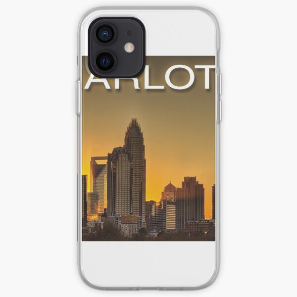 charlotte nc skyline iPhone Soft Case