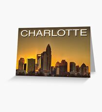 charlotte nc skyline Greeting Card